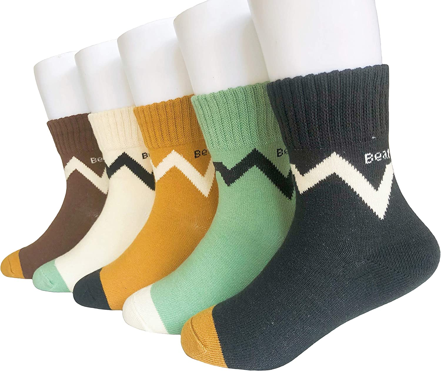 JEIIN Max 62% OFF Boys Fashion Cotton Crew Seasons At the price of surprise for Kid Four Socks