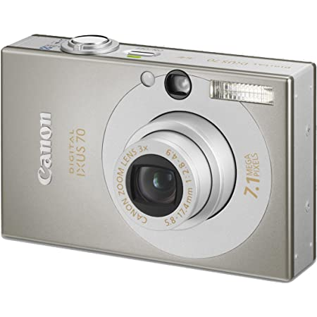 Canon Ixus 70 Digitalkamera 2 5 Zoll Silber Kamera