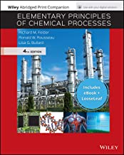 Elementary Principles of Chemical Processes, 4e EPUB Reg Card with Abridged Print Companion Set