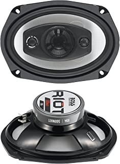 BOSS Audio Systems R94 500 Watt Per Pair, 6 x 9 Inch, Full Range, 4 Way Car Speakers Sold in Pairs