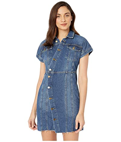 Free People The City Mini Dress (Blue) Women