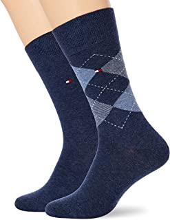 Tommy Hilfiger, Check Men's Socks (2 Pack) calcetines, pantalones vaqueros, 39/42 (Pack de 2) para Mujer