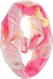VIVIAN & VINCENT Soft Light Various Print Sheer Infinity loop circle Scarf
