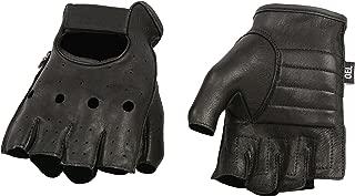 Shaf International SH851-BLK-XL Deer Skin Fingerless Gloves with Gel Padded Palm (Black, X-Large)