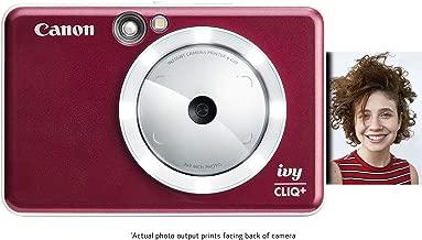 Canon IVY CLIQ+ Instant Camera Printer, Mobile Mini Photo Printer Via Bluetooth(R), Ruby Red