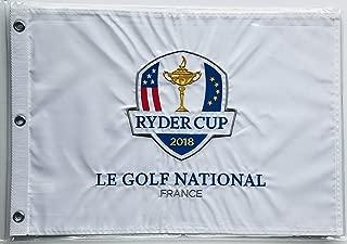 2018 Ryder Cup Flag le golf national France embroidered logo new