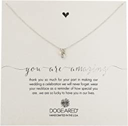 Dogeared - You Are Amazing, Pearl, Crystal Bezel and Bead Cluster Necklace