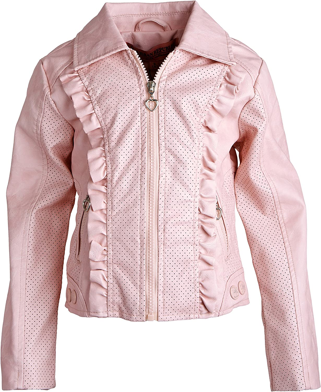 Urban Republic Girl Toddler Quilted Leather Moto Biker Spring Rain Barn Jacket