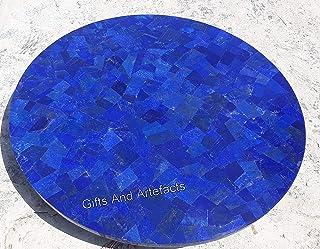 Gifts And Artefacts - Mesa de café de mármol con Piedras Preciosas incrustadas de lapislázuli, Mueble para el hogar, 76,2 ...