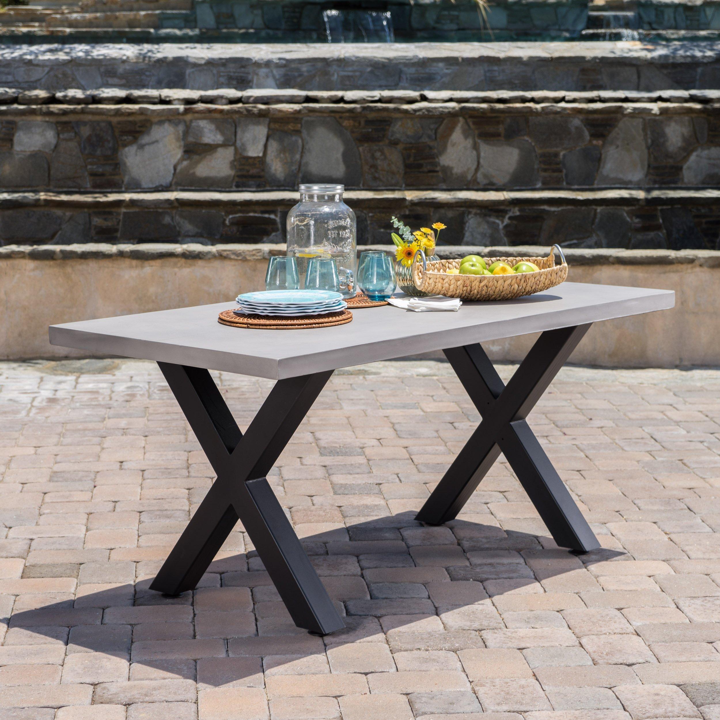 concrete patio table amazon com rh amazon com concrete patio table plans concrete patio table diy