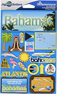 Reminisce Jet Setters 3-Dimensional Die-Cut Sticker, Bahamas