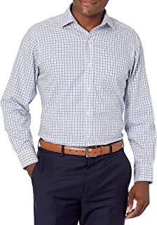 Buttoned Down Mens Classic Fit Spread Collar Pattern Dress Shirt