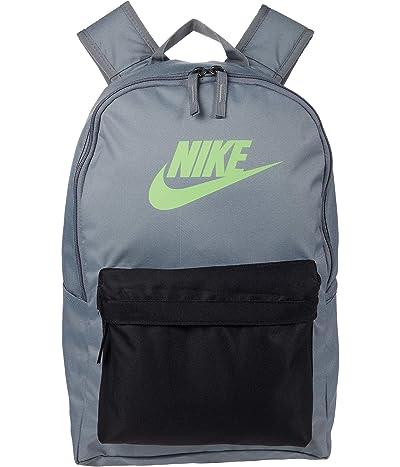 Nike Heritage Backpack 2.0 (Smoke Grey/Black/Lime Blast) Backpack Bags