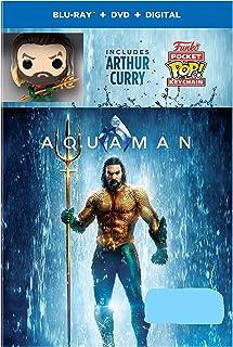 Aquaman Limited Edition (Blu-Ray+DVD+Digital) with Arthur Curry Funko POP! Pocket Keychain