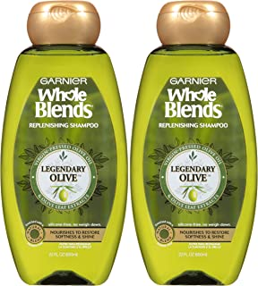 Garnier Whole Blends Replenishing Shampoo Legendary Olive, Dry Hair, 22 fl. oz.