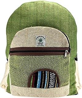 Mochila orgánica 100%. De Fibra de cáñamo y algodón a Rayas Compartimento para Ordenador portátil, Hecho en Nepal.art12