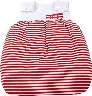 Götz 3402440 Schlafsack für Babypuppen, Design red stripes, Puppenkleidung passend für Puppengrößen 30 - 33 cm