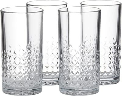 LIBBEY Harlow Hi-ball Glass, Set of 4, Clear Glass