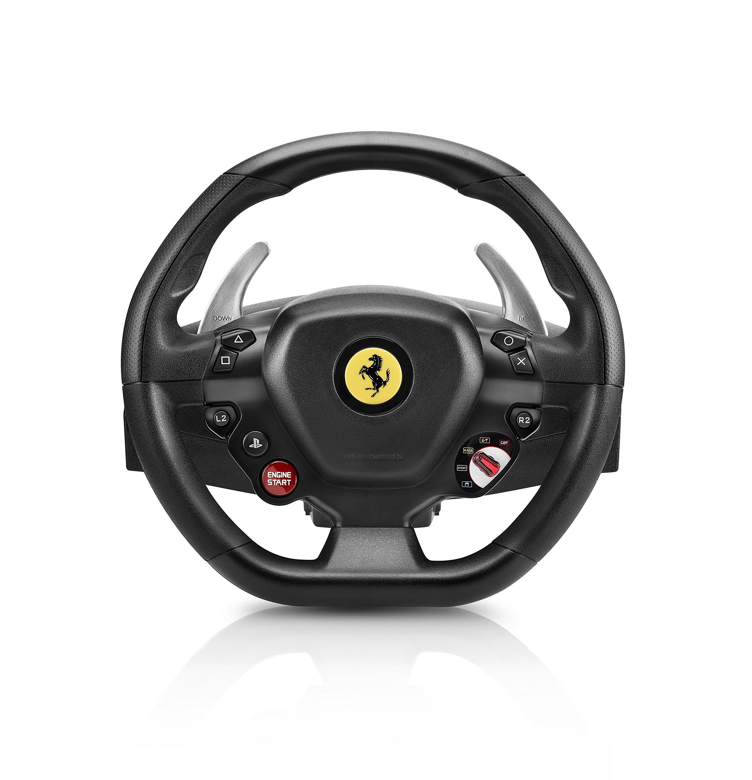 Thrustmaster - T80 RW FERRARI 488 GTB - Volante para PS4 / PC - Licencia oficial Ferrari - incluye pedales: Amazon.es: Videojuegos
