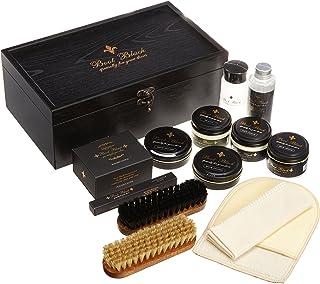 [ブートブラック]SHOE CARE SET BLACK VELVET BBブラックベルベット (木製箱(ブラック)木製箱+13点)