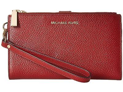 MICHAEL Michael Kors Double Zip Wristlet (Brandy) Wristlet Handbags