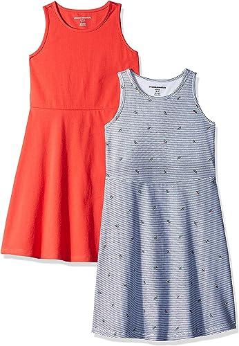 Amazon Essentials Lot de 2 Robes débardeurs pour filles