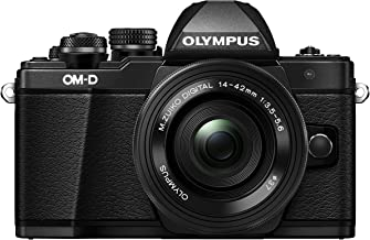 Olympus OM-D E-M10 Mark II Mirrorless Camera with 14-42mm EZ Lens (Black) US ONLY