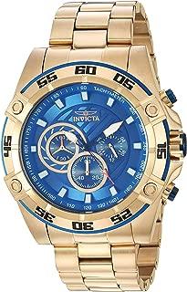 Invicta Men's Speedway Quartz Watch with Stainless Steel Strap, Gold, 25 (Model: 25536)