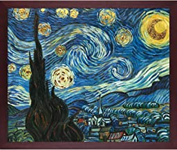 "La Pastiche Starry Night (Luxury Line) Framed Oil Painting, 26.5"" x 22.5"", Multi"