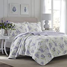Laura Ashley Home | Keighley Collection | Luxury Premium Ultra Soft Quilt Coverlet, Comfortable 3 Piece Bedding Set, All S...