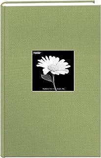 Fabric 300 pkt 4x6 Photo Album, Sage Green