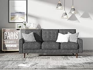 Container Furniture Direct S5439-S Matte Velvet Mid Century Modern Tufted Living Room Sofa, 71.7