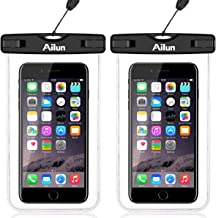 Ailun Waterproof Phone Pouch 2Pack IPX8 Snowproof Dirtproof Case Bag Universal for iPhone X Xs XR Xs Max 8 Plus 7 Plus 6 Plus 6s Galaxy S10 S9 S9Plus S8 S7 Note 10 Boating Hiking Swimming Diving Clear