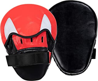 Juvale Boxing Punching Mitts - Punching Pads, Shock Absorbent Hand Pads, Focus Punching Mitts, for Boxing, MMA, Kickboxing, Training, Sport, Karate, Muay Thai, Fits, 7.5 x 9.7 x 3.7 Inches