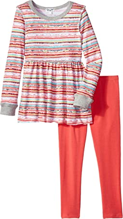 Stripe Print Sweater Set (Little Kids)