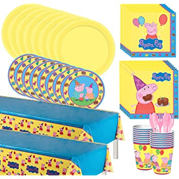 Table Decorating Kit Jumbo Letter Banner and Hanging Swirls BirthdayExpress SG/_B073636KCP/_US Cedar Crate Market Peppa Pig Decorations Party Supplies Pack