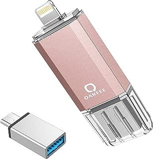 iPhone USBメモリー 128GB 最新版 フラッシュドライブ 3in1 iPhone/PC/Android/iPad IOS12対応 OTG Type- Cアダプタ付き(ピンク)