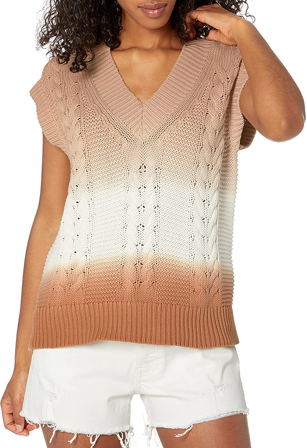 The Drop Women's Camille Cable Sweater Vest
