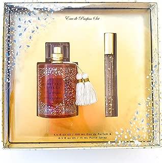 Tahitian Vanilla Eau De Parfum Holiday Gift Set - Blooming Fruity Floral Fragrance for Women - Exotic Jasmine, Coconut & Vanilla - Full Sized 3.4 oz Perfume & 0.5 oz Travel Spray