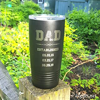 Gift for Dad - Personalized Polar Camel or YETI Rambler Insulated Mug, Gift for Dad, ENGRAVED not a decal.