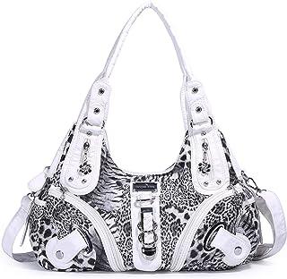 496fb22f7 Angelkiss Purses Handbags for Women Waterproof PU Leather Large Hobo  Shoulder Bags Top-Handle Tote