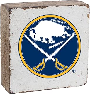 Rustic Marlin Designs NHL Buffalo Sabres, White Background, Team Logo Block, 6
