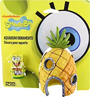 Penn Plax 07074 Spongebob and Pineapple House Aquarium Ornament