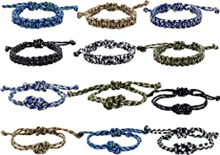 Paracord Bracelets for Boys and Girls, Parachute Cord Survival Friendship Bracelets, Birthday Party Favors, Goodie Bag Fillers, Teacher Prizes for Students, Stocking Stuffers