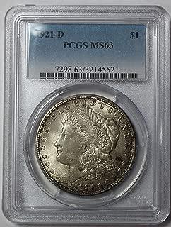 1921 ms63 morgan silver dollar
