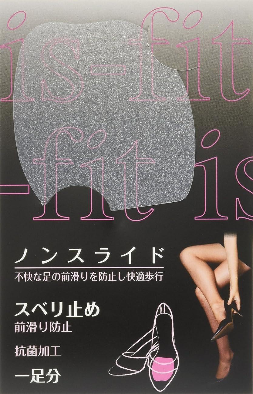 スクラップブックブランドお香is-fit(イズフィット)  ノンスライド スベリ止め シルバー 1足分
