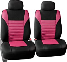FH Group FB068PINK102 Half Pink Universal Bucket Seat Cover (Premium 3D Air mesh Design Airbag Compatible)