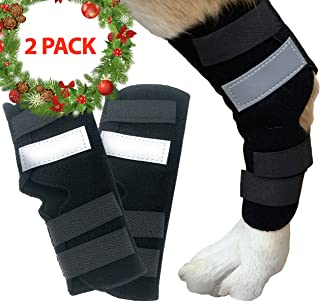 Dasksha Dog Leg Brace for Hind Leg - 1 Pair - Used for Sprains, Hind Leg Support for Arthritis, Stability After Injury, Dog Hock (Ankle) Support