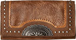 American West Guns And Roses Flap Wallet