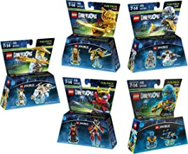 Ninjago Jay + Lloyd + Zane + Sensei Wu + Nya Fun Packs - Lego Dimensions (Non Machine Specific)